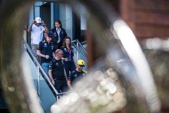 Daniel Ricciardo, Renault F1 Team, Max Verstappen, Red Bull Racing, en Lewis Hamilton, Mercedes AMG F1