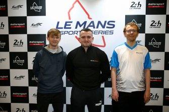 Esports qualifying race podium during the Autosport International Exhibition
