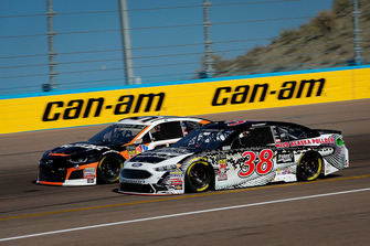David Ragan, Front Row Motorsports, Ford Fusion Trident Seafoods Wild Alaska Pollock and Regan Smith, Leavine Family Racing, Chevrolet Camaro Procore