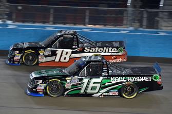 Brett Moffitt, Hattori Racing Enterprises, Toyota Tundra KOBE and Noah Gragson, Kyle Busch Motorsports, Toyota Tundra Safelite AutoGlass