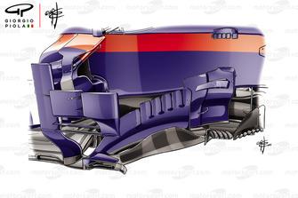 Toro Rosso STR13 barge board Brazilian GP