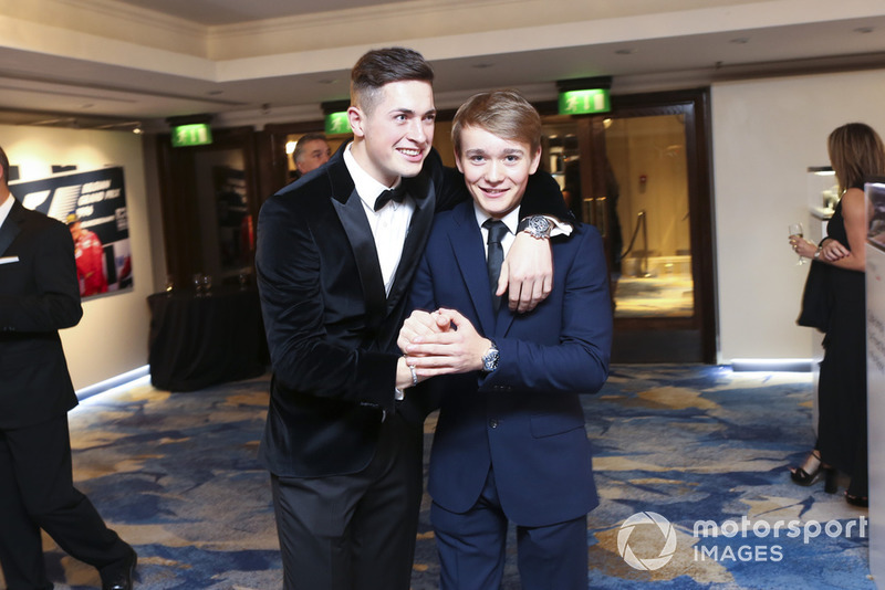 McLaren Autosport BRDC Award nominee Jamie Caroline with Billy Monger