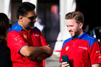Dilbagh Gill, CEO, Team Principal, Mahindra Racing, with Nick Heidfeld