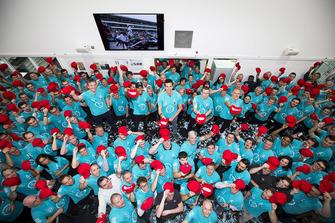 Célébration du titre 2018 de Mercedes AMG F1