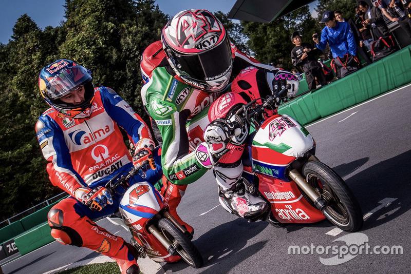Aleix Espargaro, Aprilia Racing Team Gresini, Jack Miller, Pramac Racing, Mini-Moto race