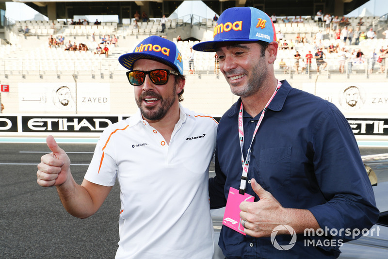 Fernando Alonso, McLaren, mit Jimmie Johnson