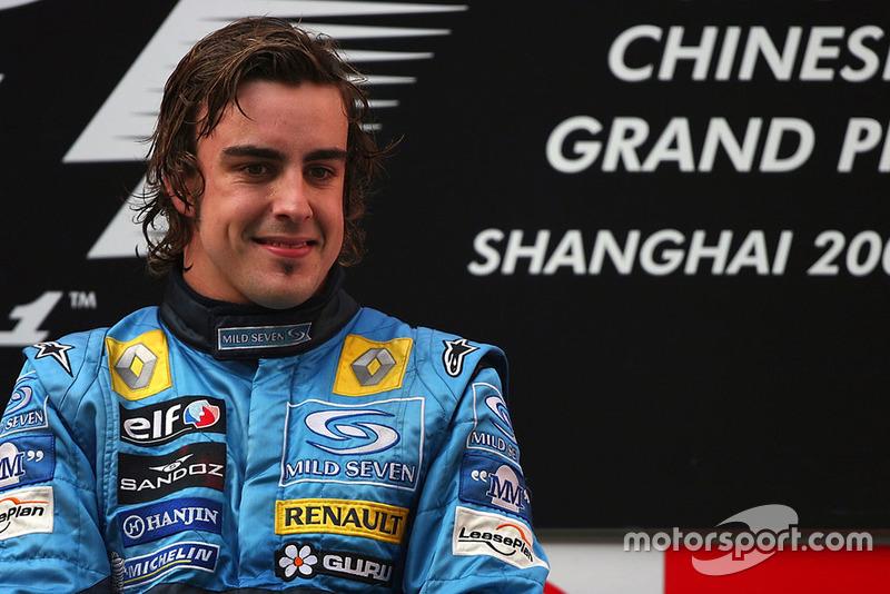 Podio: Fernando Alonso, Renault