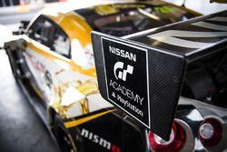#24 Nissan Motorsport, Nissan GT-R Nismo GT3 rear wing detail