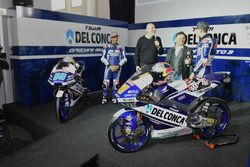 Jorge Martín, Gresini Racing Team, und Fabio Di Giannantonio, Gresini Racing Team, mit Fausto Gresin