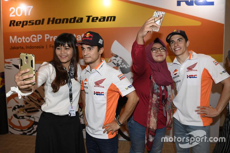 Marc Marquez, Repsol Honda Team, Dani Pedrosa, Repsol Honda Team with fans