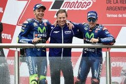 Podio: Valentino Rossi, Yamaha Factory Racing, Lin Jarvis, Yamaha Factory Racing Managing Director,