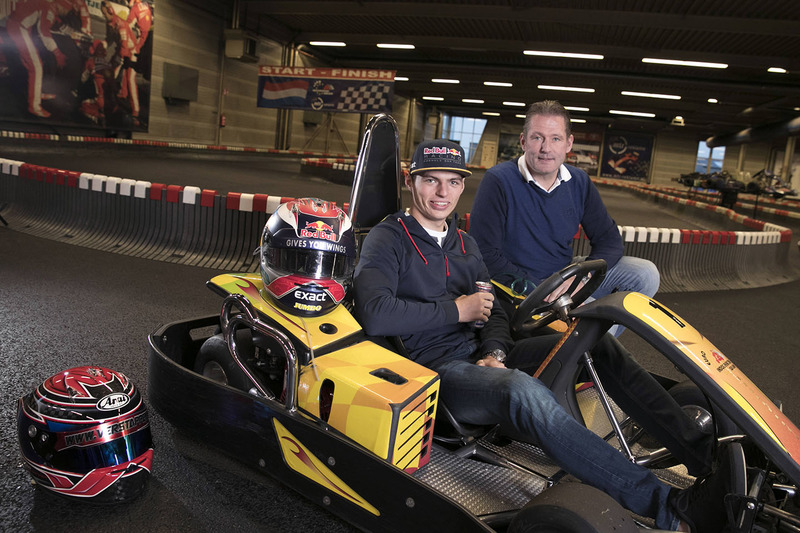Max Verstappen e o pai Jos Verstappen, ex-F1