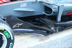 Haas F1 Team VF-17, side detail