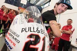 Francesco Bagnaia with the Mahindra Racing team