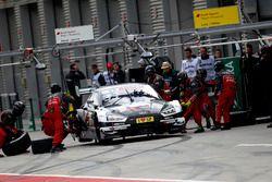 Arrêt au stand de René Rast, Audi Sport Team Rosberg, Audi RS 5 DTM
