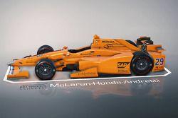 Car of Fernando Alonso, Andretti Autosport Honda