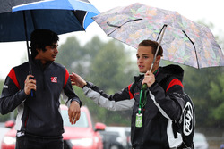 Santino Ferrucci, test pilotu, Haas F1 Team VF-17, Arjun Maini, geliştirme pilotu, Haas F1 Team Team
