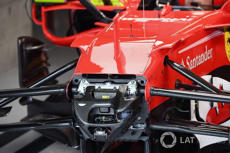 Ferrari SF70H ön süspansiyon ve şasi