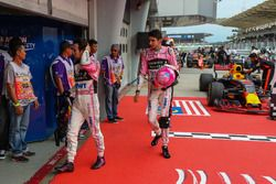 Esteban Ocon, Sahara Force India ve Sergio Perez, Sahara Force India, parc ferme