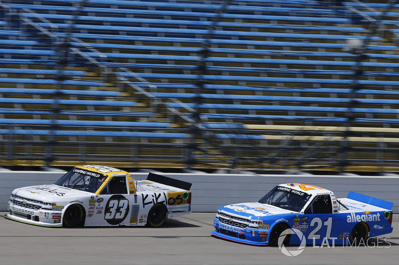 Kaz Grala, GMS Racing Chevrolet, Johnny Sauter, GMS Racing Chevrolet