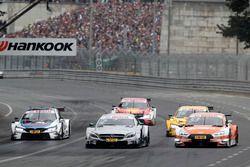Gary Paffett, Mercedes-AMG Team HWA, Mercedes-AMG C63 DTM, Jamie Green, Audi Sport Team Rosberg, Aud
