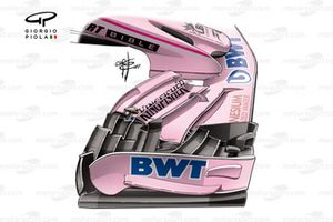 Force India VJM10 new front wing, British GP