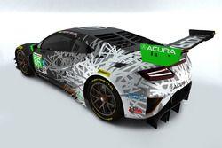 #86 Acura NSX GT3 zur Erinnerung an den 30. Jahrestag seit der Gründung von Acura