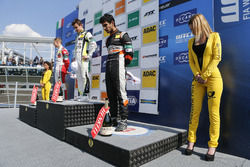 Rookie Podium: first place Lando Norris, Carlin Dallara F317 - Volkswagen, second place Mick Schumac