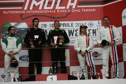 Gara 1 Podio GTCup: Di Leo-Poppy; Eugenio Pisani, Siliprandi; Nicolosi-La Mazza, Ebimotors