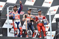 Podium: race winner Marc Marquez, Repsol Honda Team, second place Danilo Petrucci, Pramac Racing, th