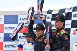 Podium: race winners Daniel Mancinelli, Niccolo Schiro, TR3 Racing