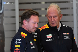 Christian Horner, Teamchef Red Bull Racing Team, Dr. Helmut Marko, Berater Red Bull
