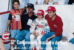 Laszlo Piquet, membro da equipe, Nelsinho Piquet e Nelson Piquet
