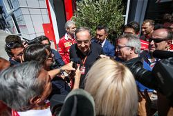 Sergio Marchionne, CEO FIAT talks to the media