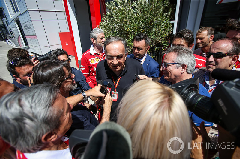 Sergio Marchionne, CEO FIAT talks to the media