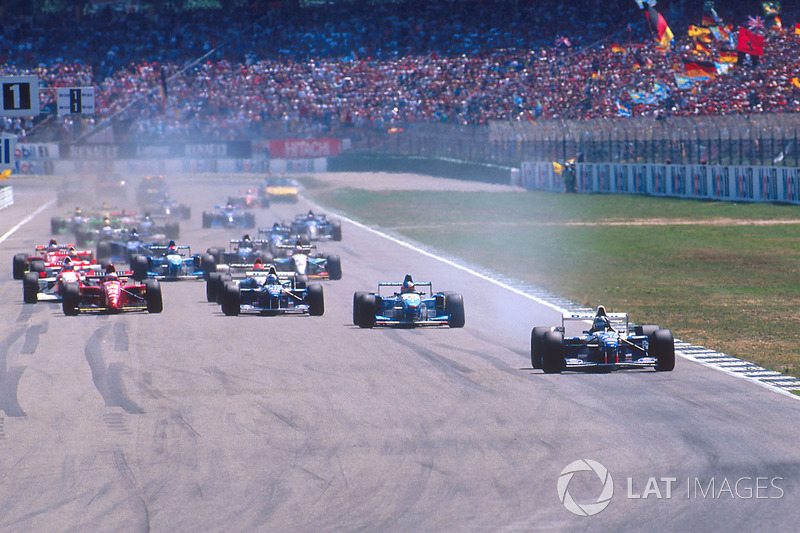 Action beim Start in Hockenheim 1995