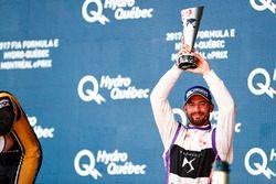 Jose Maria Lopez, DS Virgin Racing, sur le podium