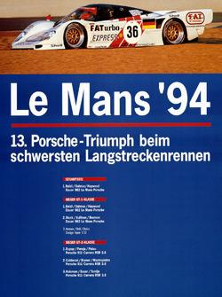 Poster: Porsche-Sieg bei den 24h Le Mans 1994