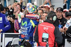 Il vincitore della gara Valentino Rossi, Yamaha Factory Racing, Danilo Petrucci, Pramac Racing