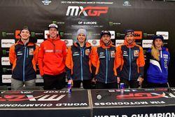 Jeffrey Herlings, Red Bull KTM Factory Racing, Lars van Berkel, Team HRC, Pauls Jonass, Red Bull KTM