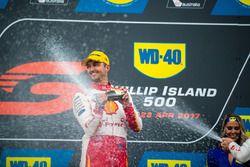 Podium: race winner Fabian Coulthard, Team Penske Ford