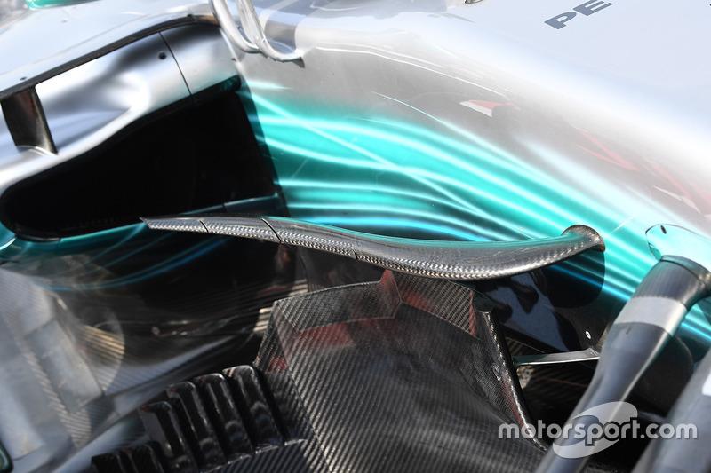 Mercedes AMG F1 W08, detalle aerodinámico