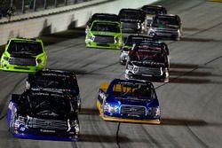 Ryan Truex, Hattori Racing Enterprises Toyota, Austin Cindric, Brad Keselowski Racing Ford