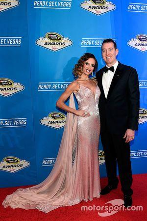 Kyle Busch, Joe Gibbs Racing Toyota and wife Samantha
