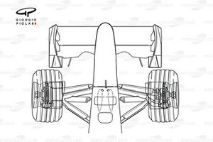 Ferrari F2001 outline from above, shows brake detail
