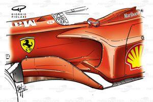 Дефлектор и боковой понтон Ferrari F2001