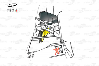 McLaren MP4-16 bargeboards (yellow highlighted section added)