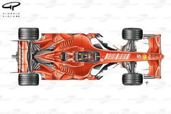 Vue de dessus de la Ferrari F2007, tests en Espagne