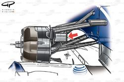 Williams FW31 2009 front brake duct detail