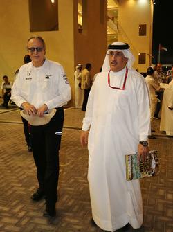 Mansour Ojjeh, accionista de McLaren con el Jeque Mohammed bin Essa Al Khalifa, Director Ejecutivo d
